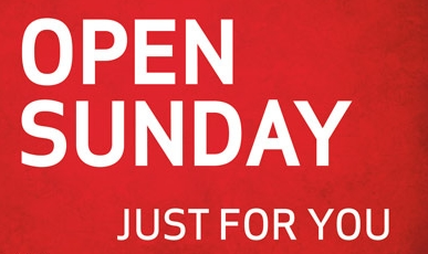 Sunday Open for Admission 