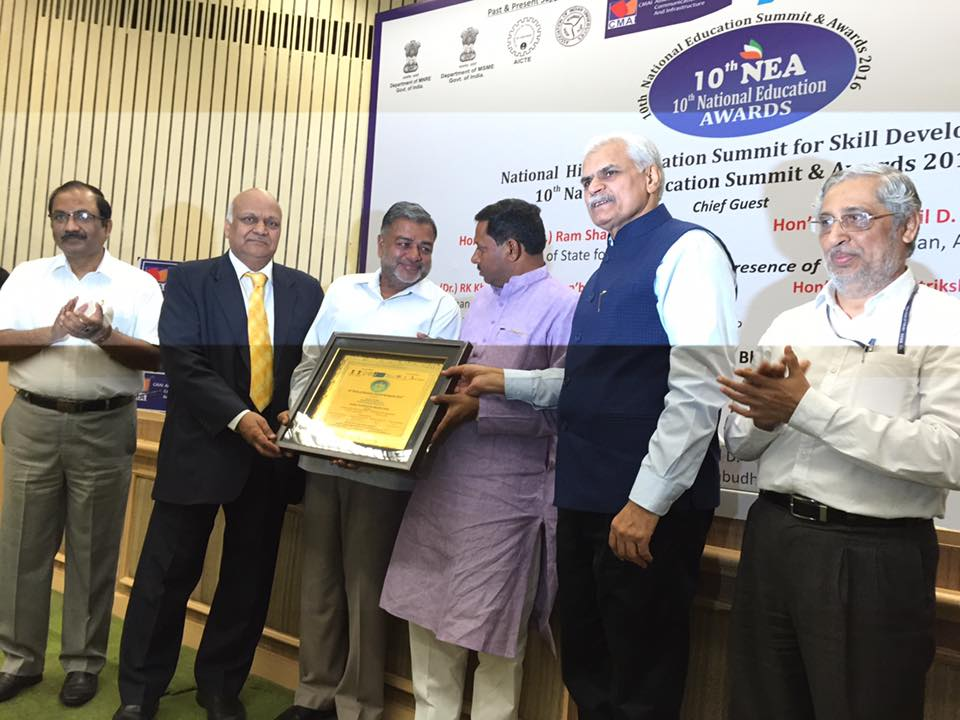 Dr D K Modi been awarded at 