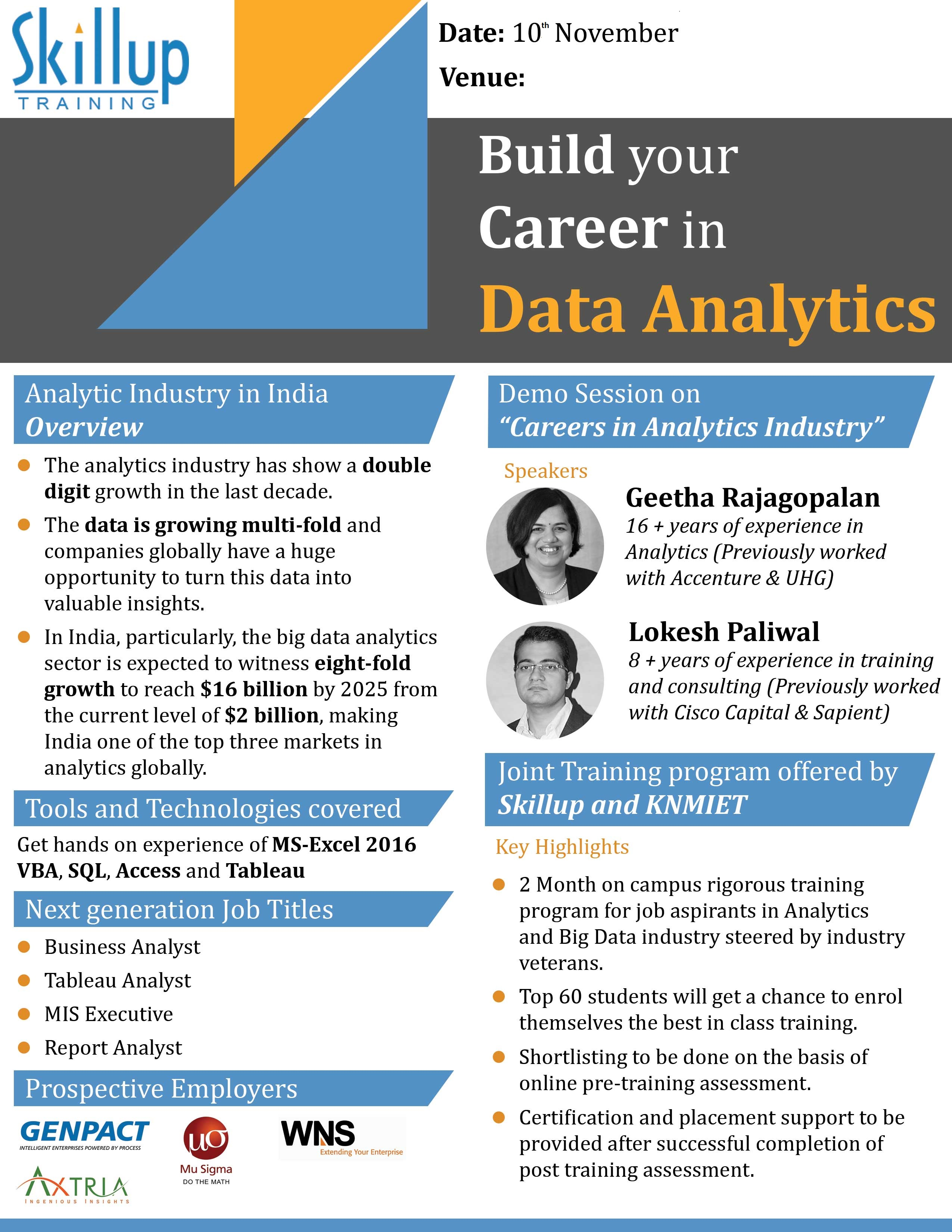 Build your career in Data Analytics